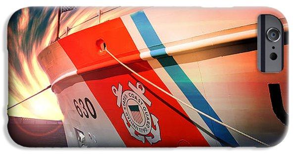 Coast Guard Uscg Alert Wmec-630 IPhone Case by Aaron Berg