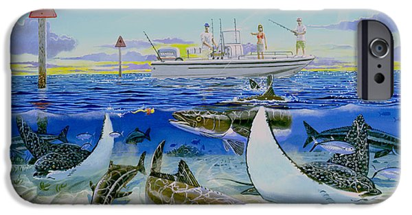 Cobia Run In004 IPhone Case by Carey Chen