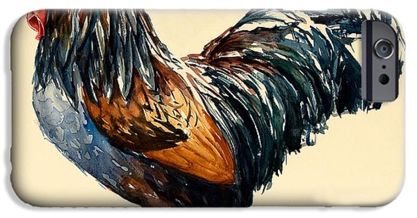 Cockerel IPhone 6s Case by Alison Cooper