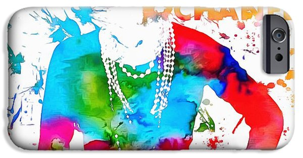 Coco Chanel Paint Splatter IPhone Case by Dan Sproul