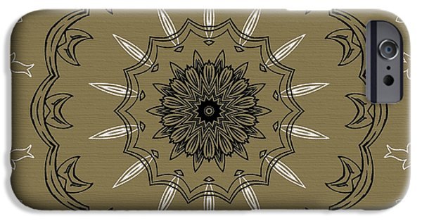 Coffee Flowers 3 Olive Ornate Medallion IPhone 6s Case by Angelina Vick