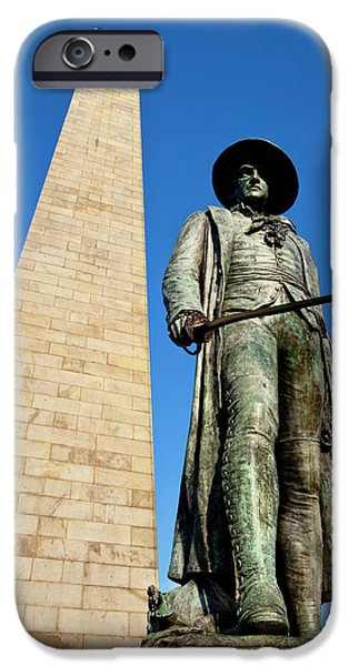 Colonel William Prescott Statue IPhone Case by Brian Jannsen