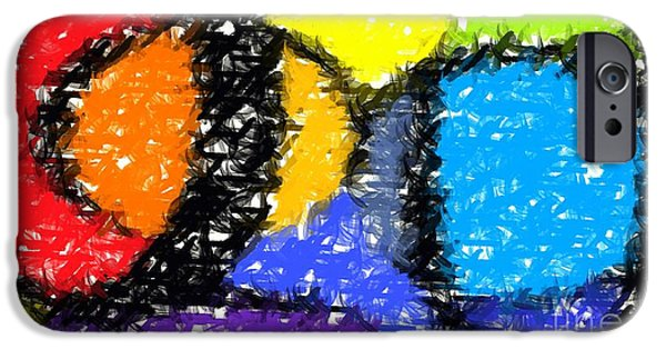 Colorful Abstract 3 IPhone Case by Chris Butler