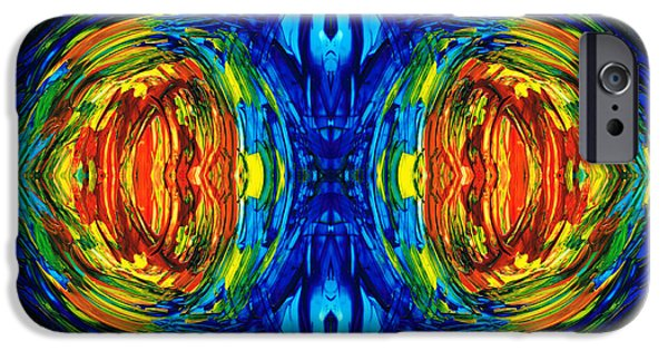 Colorful Abstract Art - Parallels - By Sharon Cummings  IPhone Case by Sharon Cummings