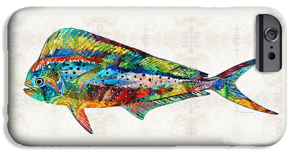 Colorful Dolphin Fish By Sharon Cummings IPhone 6s Case by Sharon Cummings