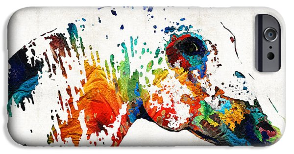 Colorful Horse Art - Wild Paint - By Sharon Cummings IPhone Case by Sharon Cummings
