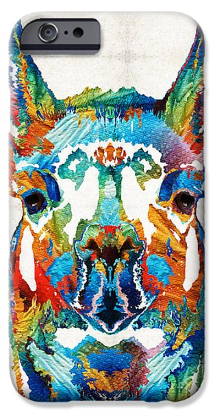 Colorful Llama Art - The Prince - By Sharon Cummings IPhone 6s Case by Sharon Cummings
