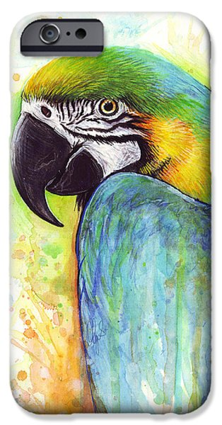 Macaw Painting IPhone 6s Case by Olga Shvartsur