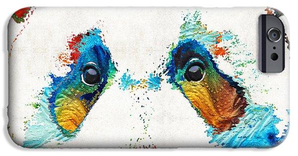 Colorful Panda Bear Art By Sharon Cummings IPhone Case by Sharon Cummings