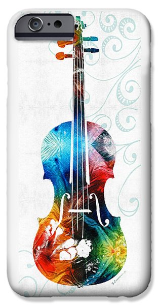 Colorful Violin Art By Sharon Cummings IPhone 6s Case by Sharon Cummings