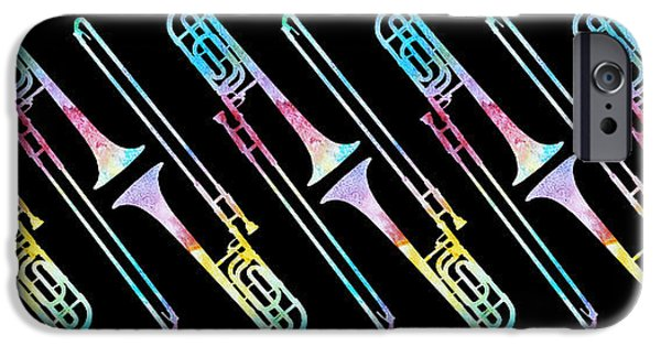 Colorwashed Trombones IPhone 6s Case by Jenny Armitage