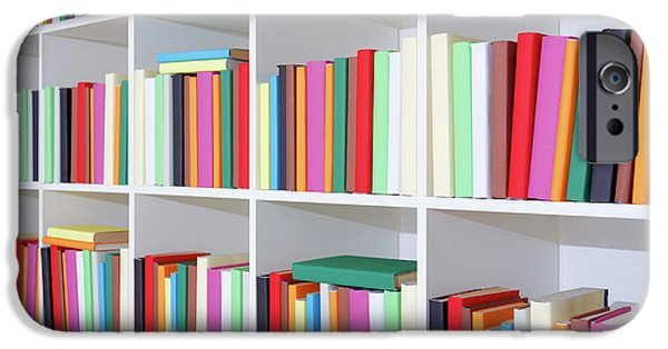 Colourful Books On A Bookcase IPhone Case by Wladimir Bulgar