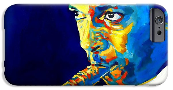 Coltrane-blu IPhone Case by Vel Verrept