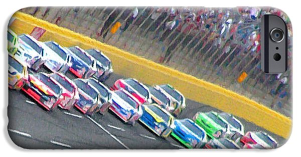 Coming Out Of Turn 4 IPhone Case by Kenneth Krolikowski