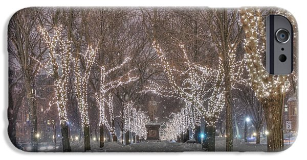 Commonwealth Ave Mall - Boston IPhone Case by Joann Vitali