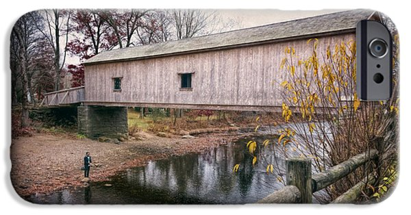 Comstock Covered Bridge IPhone Case by Joan Carroll