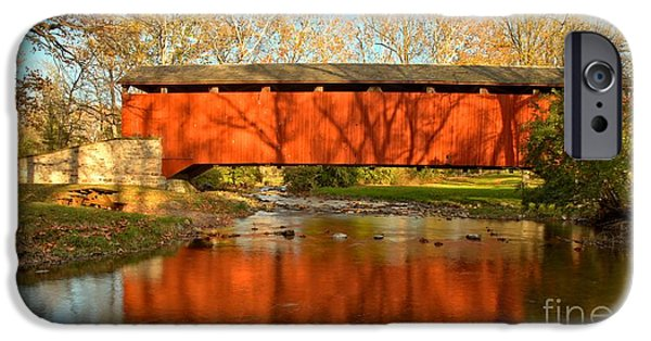 Conestoga River Reflections Crop IPhone Case by Adam Jewell