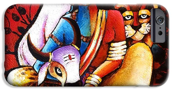 Confluence - Ardhanareshwar IPhone Case by Sonali Mohanty