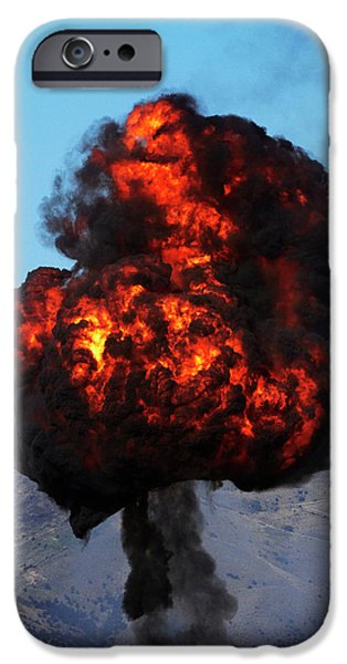 Controlled Explosions At Warbirds IPhone Case by David Wall