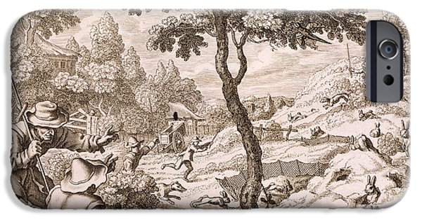 Cony Catching, Engraved By Wenceslaus IPhone 6s Case by Francis Barlow