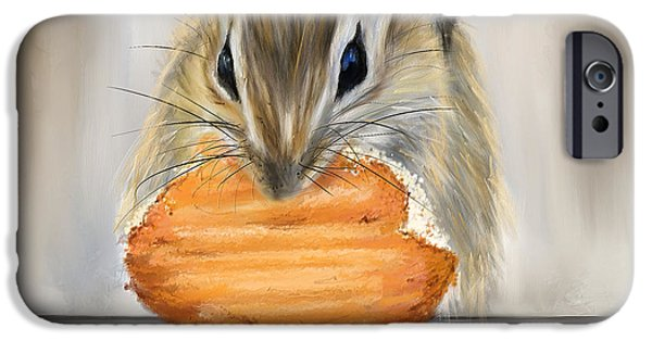 Cookie Time- Squirrel Eating A Cookie IPhone 6s Case by Lourry Legarde