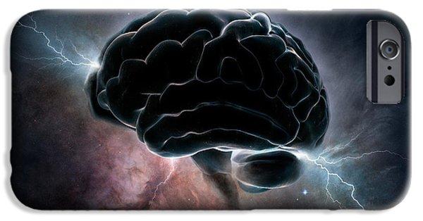 Cosmic Intelligence IPhone Case by Johan Swanepoel