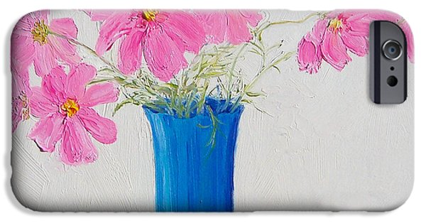 Cosmos Flowers IPhone Case by Jan Matson