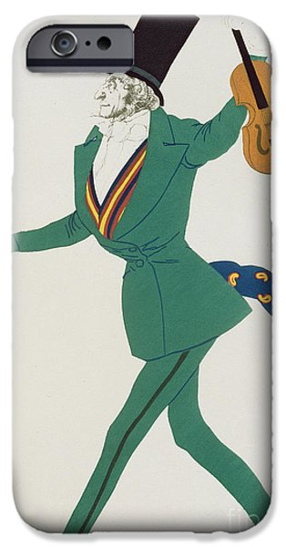 Costume Design For Paganini In The Enchanted Night IPhone Case by Leon Bakst