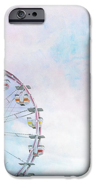 Cotton Candy Ferris Wheel IPhone Case by Kay Pickens