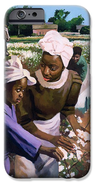 Cotton Pickers IPhone Case by Colin Bootman
