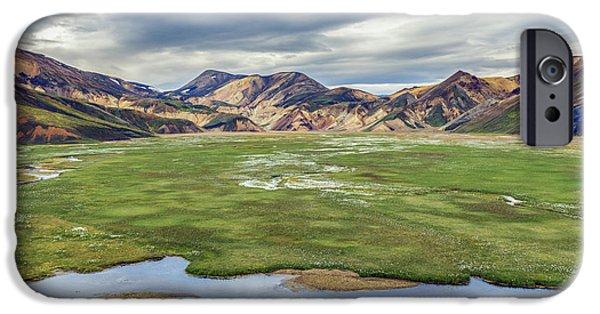 Cottongrass Field Landmannalaugar IPhone Case by Jeffrey Van Daele