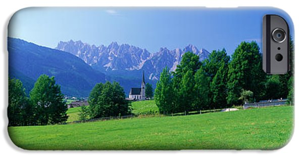 Country Churches Near Dachstein Gosau IPhone Case by Panoramic Images