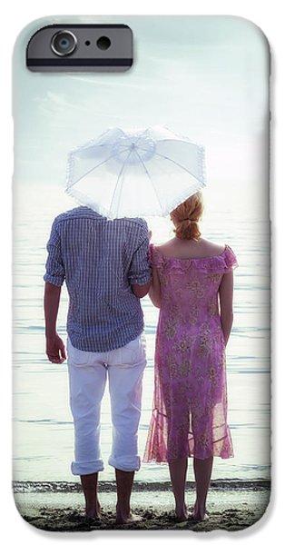 Couple On The Beach IPhone Case by Joana Kruse