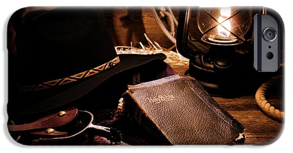 Cowboy Bible IPhone Case by Olivier Le Queinec