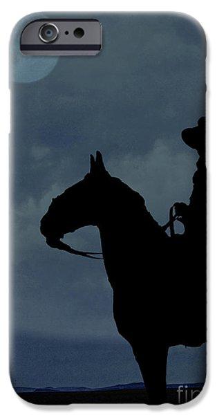 Cowboy On The Range IPhone Case by Edward Fielding
