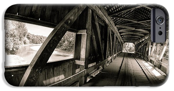 Cox Ford Covered Bridge IPhone Case by Jackie Novak