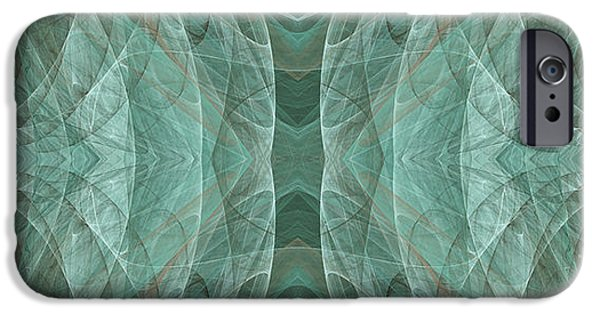 Crashing Waves Of Green 2 - Panorama - Abstract - Fractal Art IPhone 6s Case by Andee Design