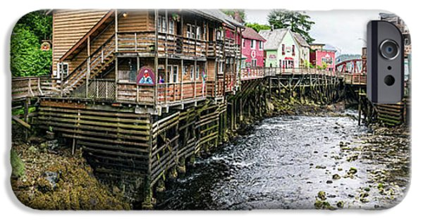 Creek Street On Ketchikan Creek IPhone Case by Panoramic Images