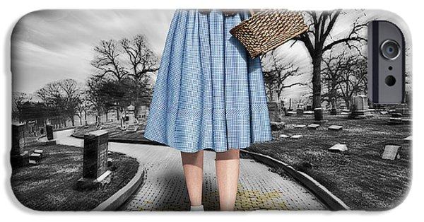 Creepy Dorothy In The Wizard Of Oz IPhone Case by Tony Rubino