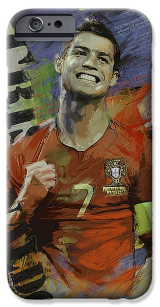 Cristiano Ronaldo - B IPhone 6s Case by Corporate Art Task Force