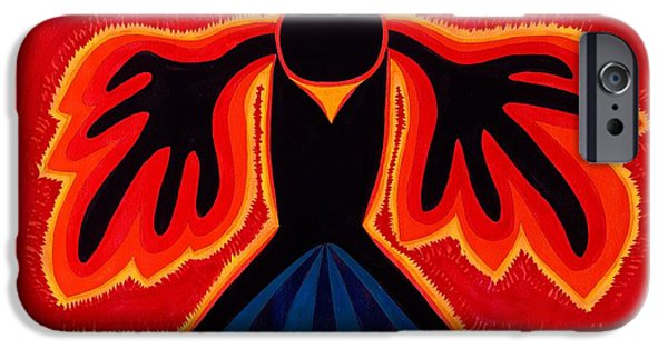 Crow Rising Original Painting IPhone Case by Sol Luckman