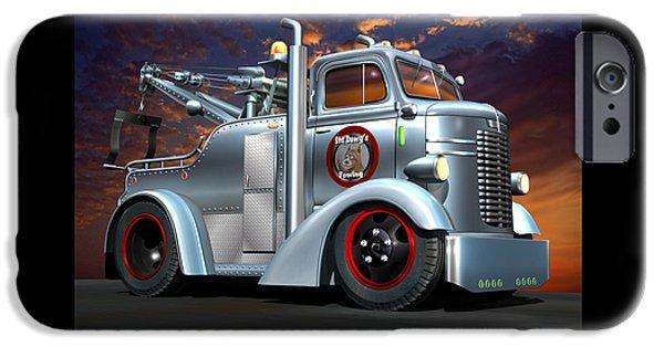 Custom Coe Tow Truck IPhone Case by Stuart Swartz
