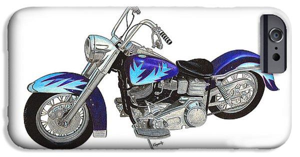 Custom Harley IPhone Case by Darren Kopecky