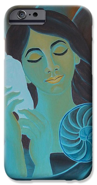 Cute Girl Listening To The Pleasant Music From Shankh IPhone Case by Mounika Narreddy