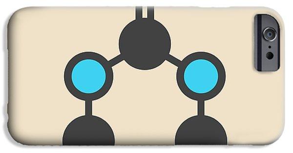 Cyanuric Acid Molecule IPhone Case by Molekuul