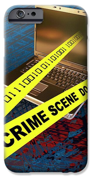 Cyber Crime IPhone Case by Carol & Mike Werner