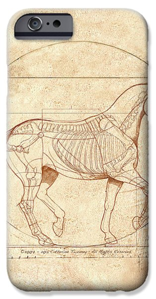 da Vinci Horse in Piaffe IPhone 6s Case by Catherine Twomey