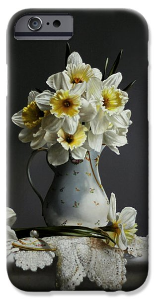 Daffodils IPhone Case by Larry Preston