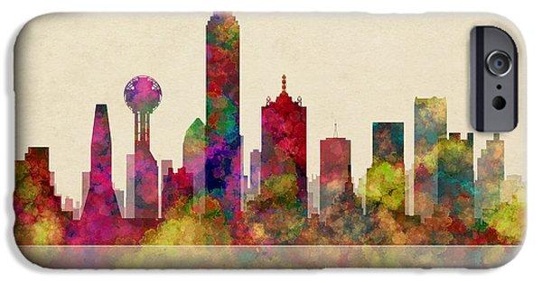 Dallas Texas Skyline IPhone Case by Daniel Hagerman