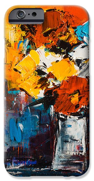 Dancing Colors IPhone Case by Elise Palmigiani